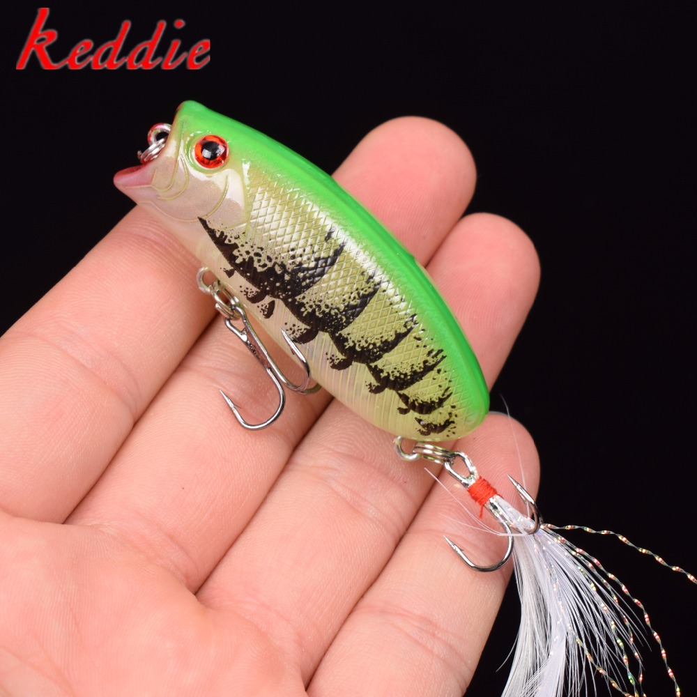 1PCS 3D Eyes Lifelike Fishing Lure 5.5cm 11g 8# Hooks Pesca Fish Popper Lures Wobbler Isca Artificial Hard Bait Swimbait Minnow