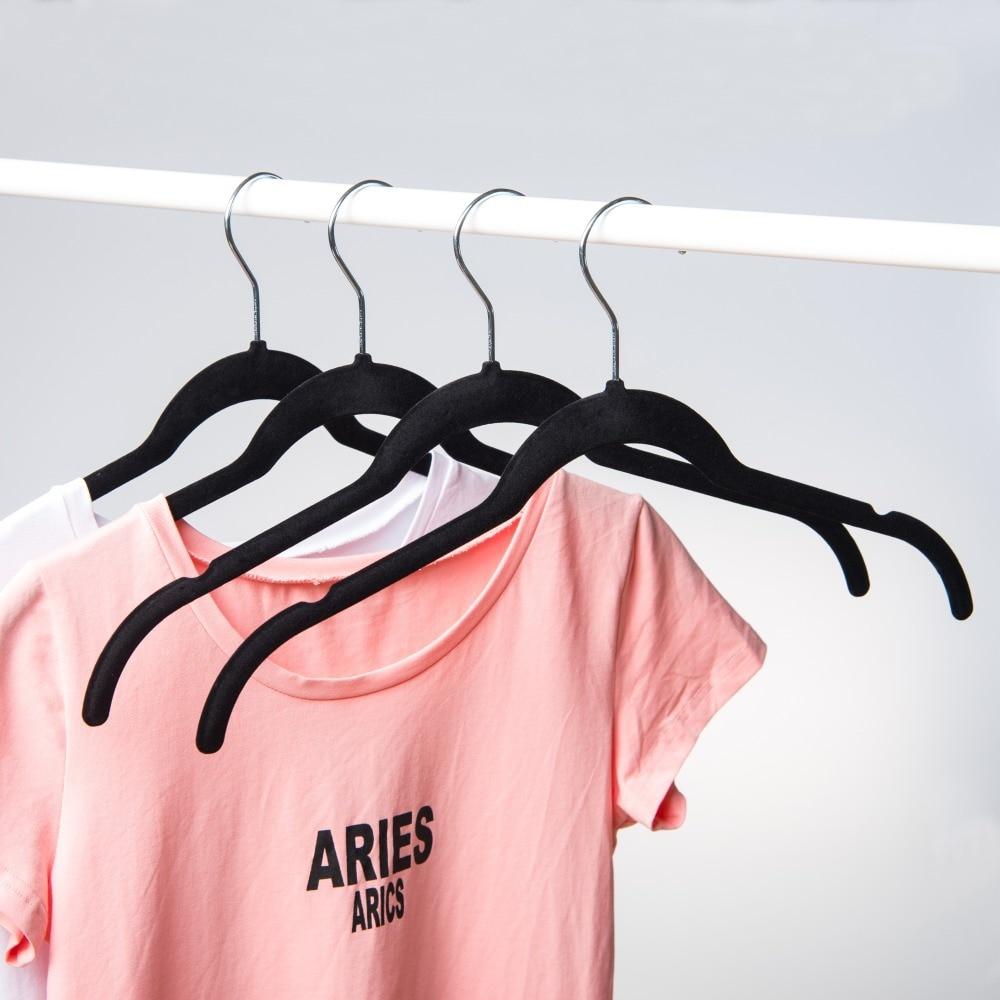 Hangerlink Kemeja / Gaun Beludru Non-slip dengan Frame Bertekuk Untuk - Organisasi dan penyimpanan di rumah - Foto 6
