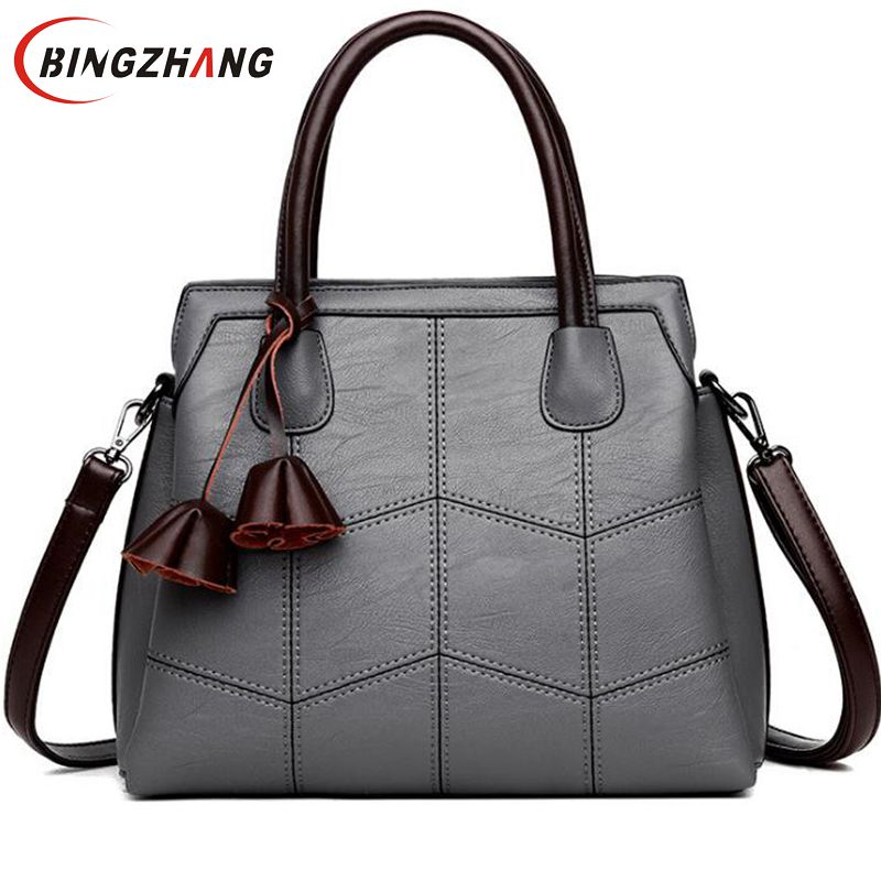 Brand Women Bags PU Leather Bags 2018 fashion Women Handbags High Quality Shoulder Bags Ladies Sac A Main  L8-76 kmffly brand fashion 2018 women bags genuine leather bags women handbags high quality sheepskin shoulder bags ladies sac a main