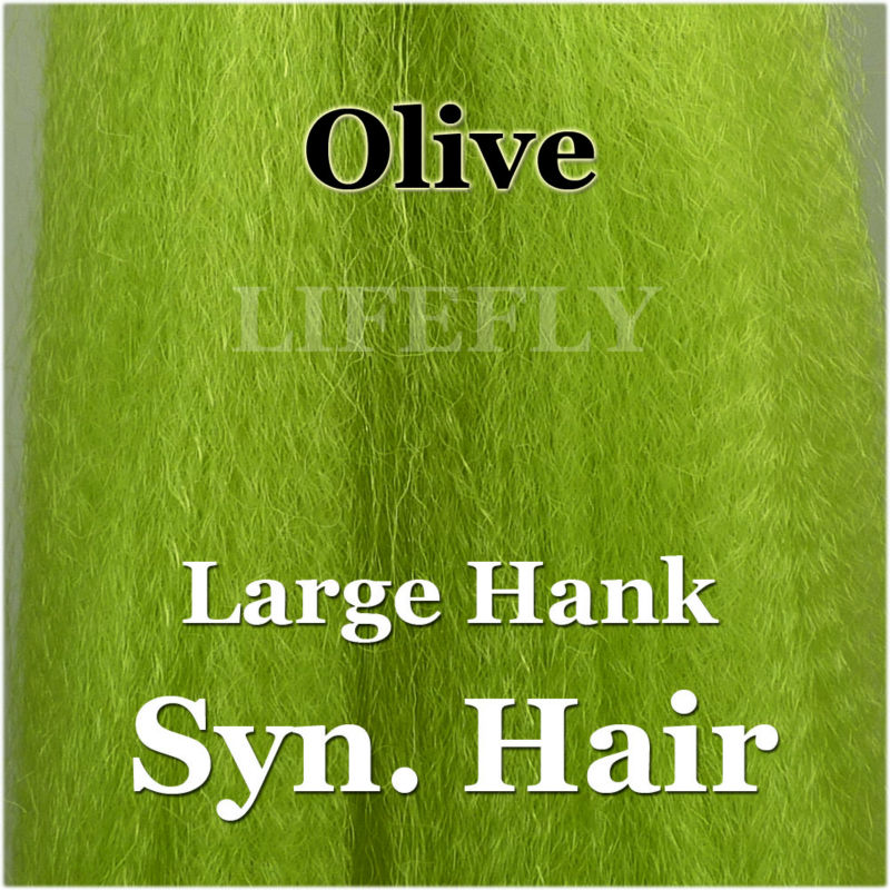 Buck Tail Replacement Hank BLACK Synthetic SUPER HAIR Fly Tying