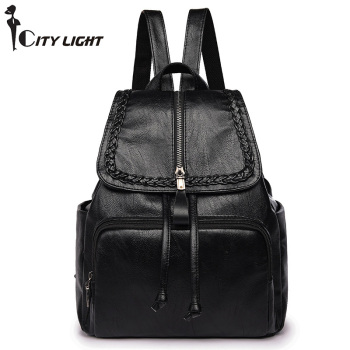 Fashion Backpack Women PU Leather Bag Women Bag Small Women Backpack Mochila Feminina School Bags for Teenagers