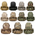New 50L Molle Tactical Assault Military Rucksacks Backpack Camera Bag Large 11 Color Sports Bags Free Shipping