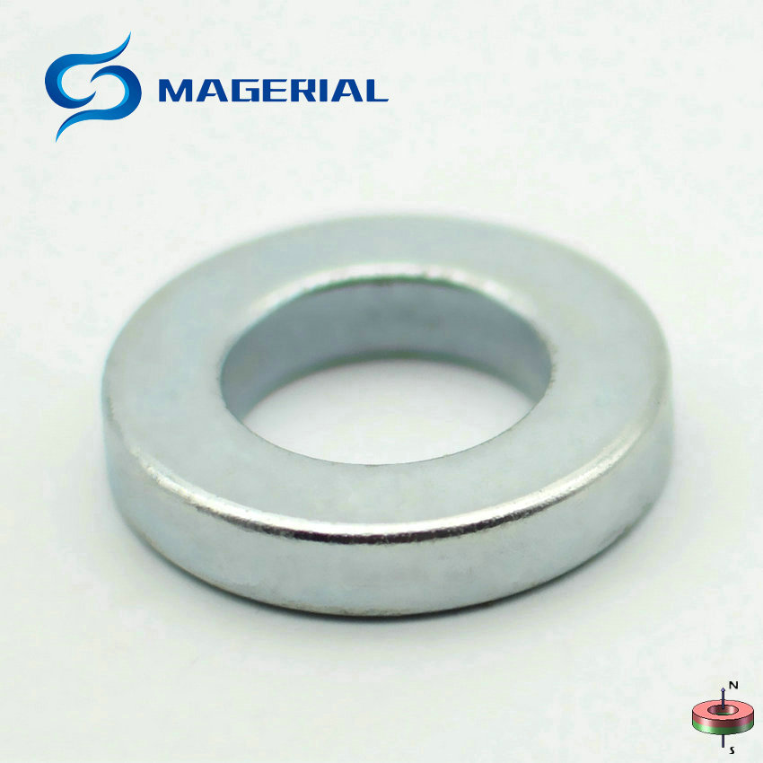 2-50pcs/pack NdFeB Grade N42 Magnet Ring OD 32x18x6 mm 1.26'' Axially Magnetized Strong Neodymium Permanent Rare Earth Magnet 1 pack grade n38 ndfeb micro ring diameter od 9 5x4x0 95 mm 0 37 strong axially magnetized nicuni coated rare earth magnet