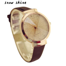 snowshine #10xin   Woman Girl Luxury Sands Starry Simple Temperament Quartz Watch free shipping
