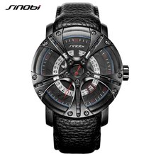 SINOBI Men Watches Shock Military Watch Style Eagle Claw Leather Strap Sport Quartz Watches Top Brand Cool Relogio Masculino