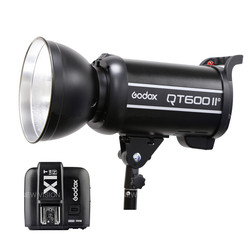 Godox QT600II 600WS GN76 1/8000s Sync Flash Strobe Light with Built in 2.4G Wirless System+X1T-N Trigger For N CD50