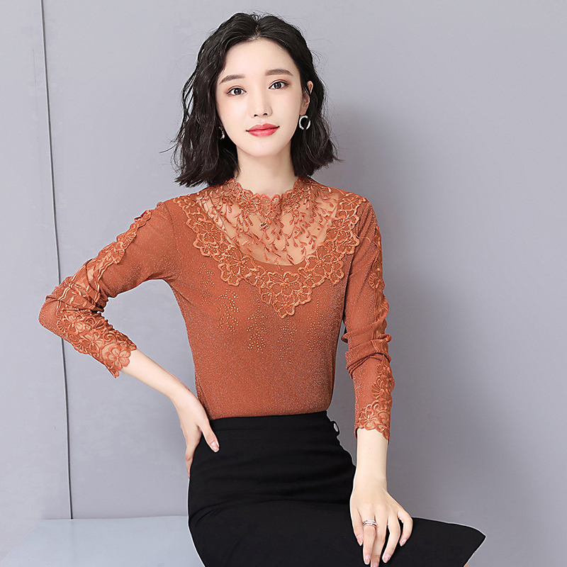 New Design Spring Autumn Sexy Party Women Long Sleeve Lace