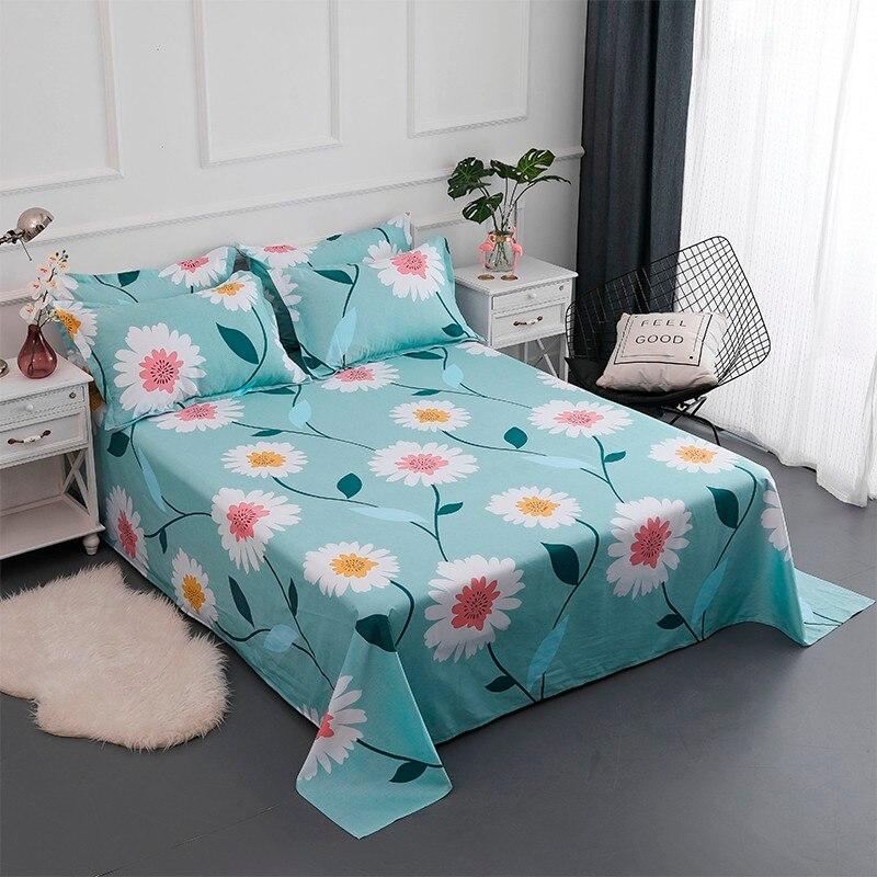 Solstice Home Textile 100% Cotton Bedding Sets Girls Kid Teen Adult Linen Flower Chrysanthemum Duvet Cover Pillowcases Bed Sheet