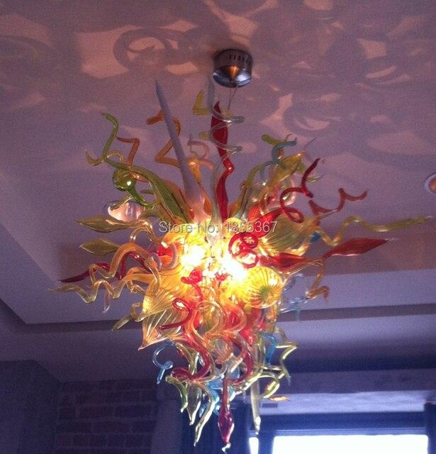Free Shipping Kitchen Light Cheap Modern Hand Blown Art Glass Chandelier