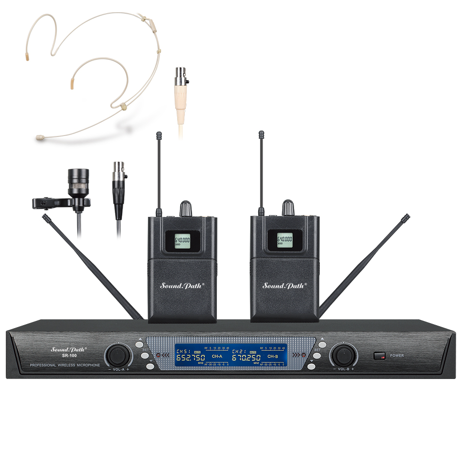 soundpath sr 100 top selling professional uhf wireless microphone transmitter receiver system. Black Bedroom Furniture Sets. Home Design Ideas