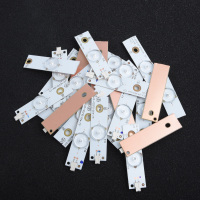 100pc Lamp Beads 3V/ 6 LED with Optical Lens Fliter Strip White Bulbs 32 65 inch Repair Bar SMD TV Pack of 100