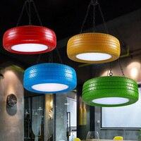 R etroสียางโคมระย้าสตูดิโอสร้างสรรค์บาร์บุคลิกภาพลอฟท์ร้านอาหารcafe barห้องนั่ง