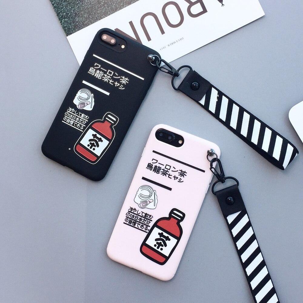 Fashion Soft Case for iPhone X Ten 6 6S 7 Plus Japan Tea