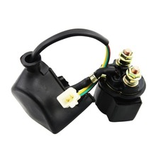 GOOFIT Solenoid Relay 50cc 70cc 90cc 110cc 125cc ATV Dirt Pocket Bike Go-kart H056-001 goofit electric starter 50cc 70cc 110cc 125cc atv quad dirt bikes go karts 3 bolt top k084 003