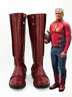 Movie The Flash Jay Garrick Shoes Halloween Carnival Long Boot High Quality