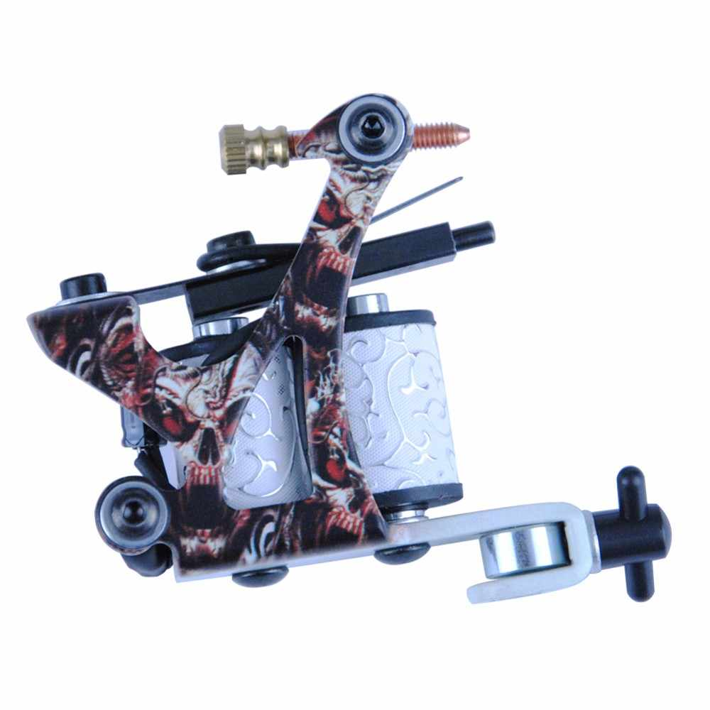 Professionele 1 Set Apparatuur Dual Machine 20 Kleur Tattoo Machine Set 2 Gun Voeding Cord Kit Body Tattoo Beginner kit