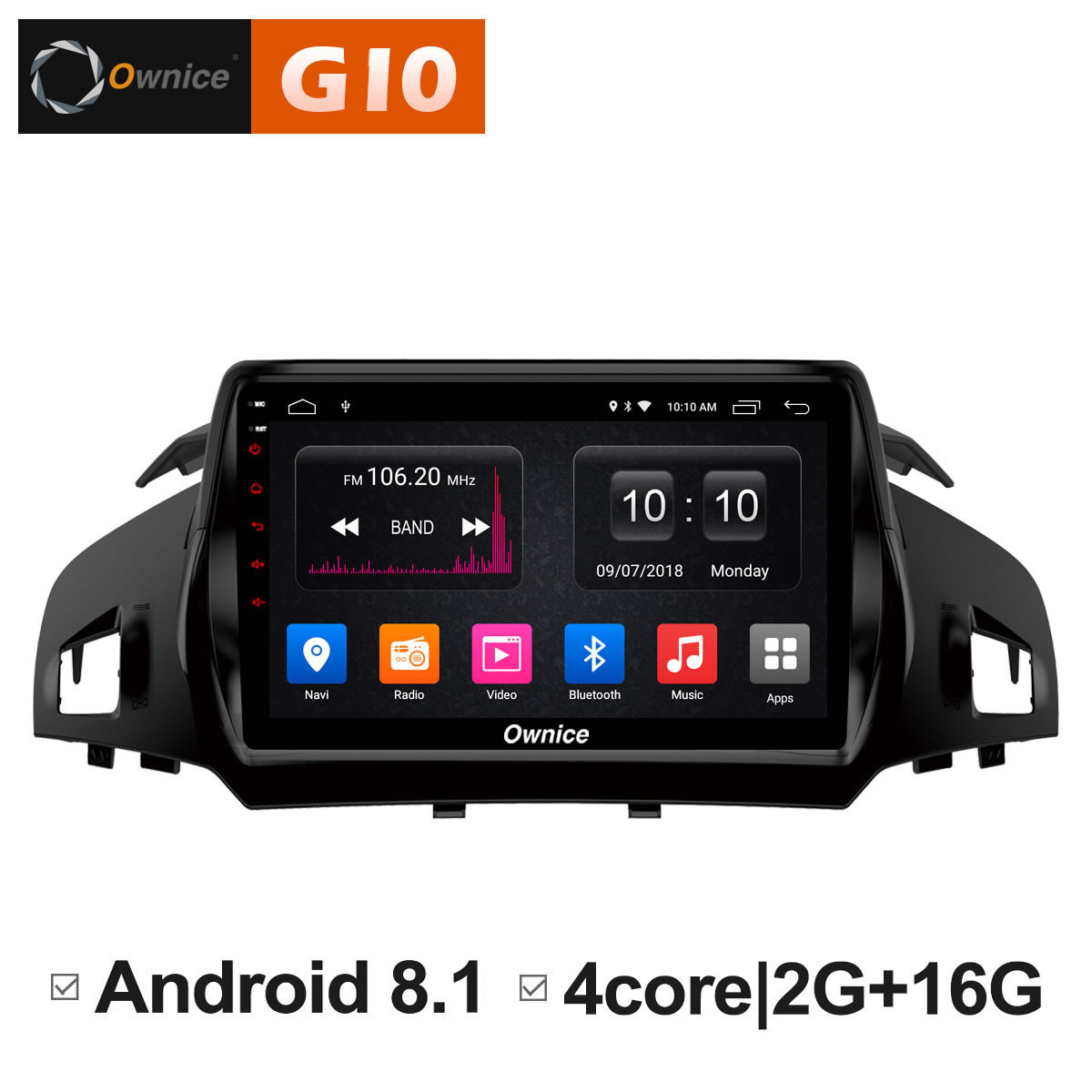 Android 8.1 Unit Car radio Stereo Audio GPS navigator dvd Intelligent Multimedia Player for Ford Kuga 2013 2014 2015 2016 2017 10 1 android car dvd multimedia player gps for nissan teana 2013 2014 2015 2016 altima car radio stereo navigator bluetooth