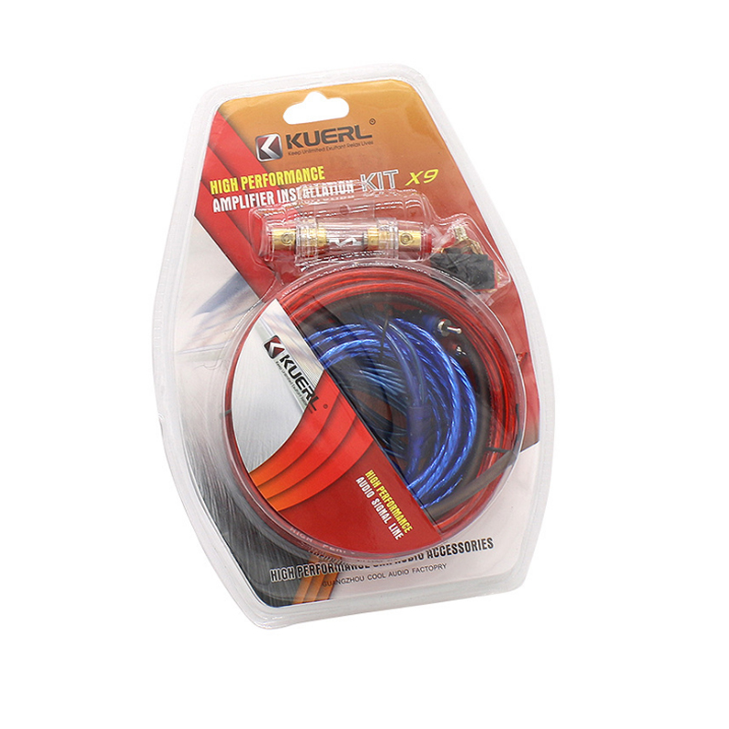 Car Power Amplifier Car Speaker Woofer Cables Car Power Amplifier Audio Line Power Line Suit