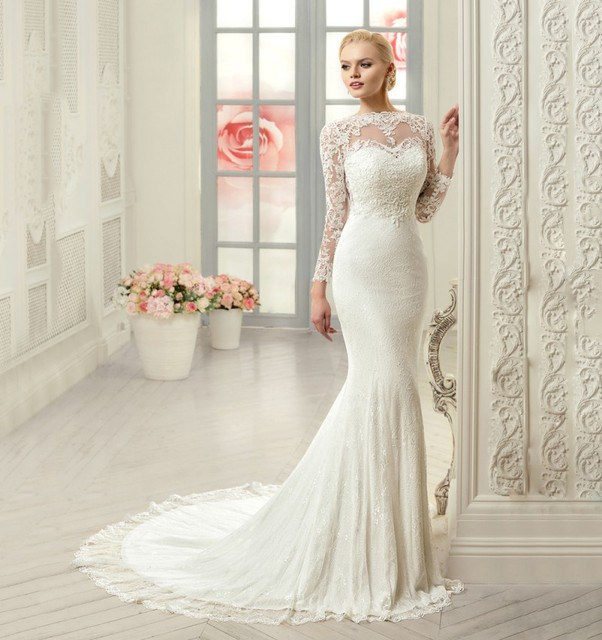 Mermaid Sleeve Wedding Dress