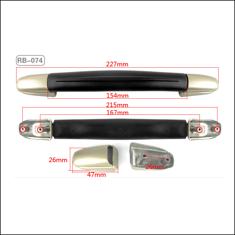 Replacement Luggage Suitcase Telescopic Pull Handles