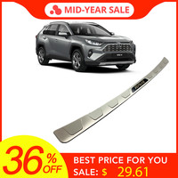 High quality Stainless Steel Car Rear Bumper Sill Guard Protector Trim Cover Sticker Plate For Toyota RAV4 RAV 4 2019 2020