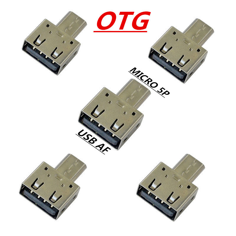Otg Adapter Usb Otg Converter Head Sd Card Reader: Mini Metal Shell OTG Adapter Micro Phone Usb Connection