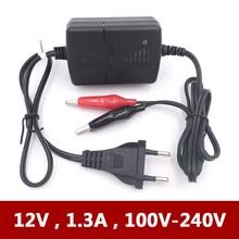 12 В 1A 1.3A Smart мини автомобиль мотоцикл аккумулятор для электронной игрушки зарядное устройство для свинцово кислотная AGM гель аккумулятор портативный вольт 1000ma 220