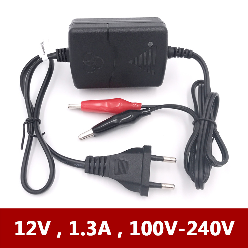 12V 1A 1.3A Smart Mini Car Motorcycle Electric Toy Battery Charger