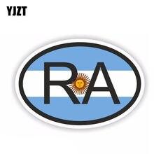 YJZT 10,8 см * 7,2 см Аргентина RA Автомобильная наклейка страна код овальная наклейка ПВХ 6-0378