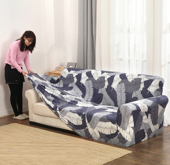 Стрейчевые покрывала на диван, нескользящий эластичный чехол для софы в гостиную, накидка на одно-, двух-, трех-, четырехместную кушетку