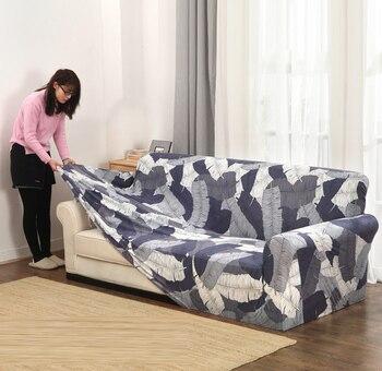Fundas sofá elástico para sala de estar funda de sofá elástica seccional antideslizante Toalla de sofá asiento individual/dos/tres/cuatro