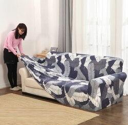 Trecho slipcovers sofá capa para sala de estar deslizamento-resistente secional elástico sofá capa toalha único/dois/três/quatro assento