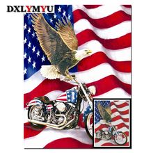 5D Diy Diamond Painting Cross Stitch Motorcycle Picture Rhinestone Crystal Needlework Embroidery Full Decorative