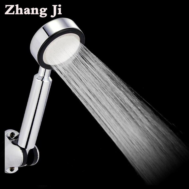 Bathroom ABS 68 Holes Shower Head High Pressure With Chrome Water Saving Handheld Shower Head Rain Hand Spray Nozzle Head ZJ012