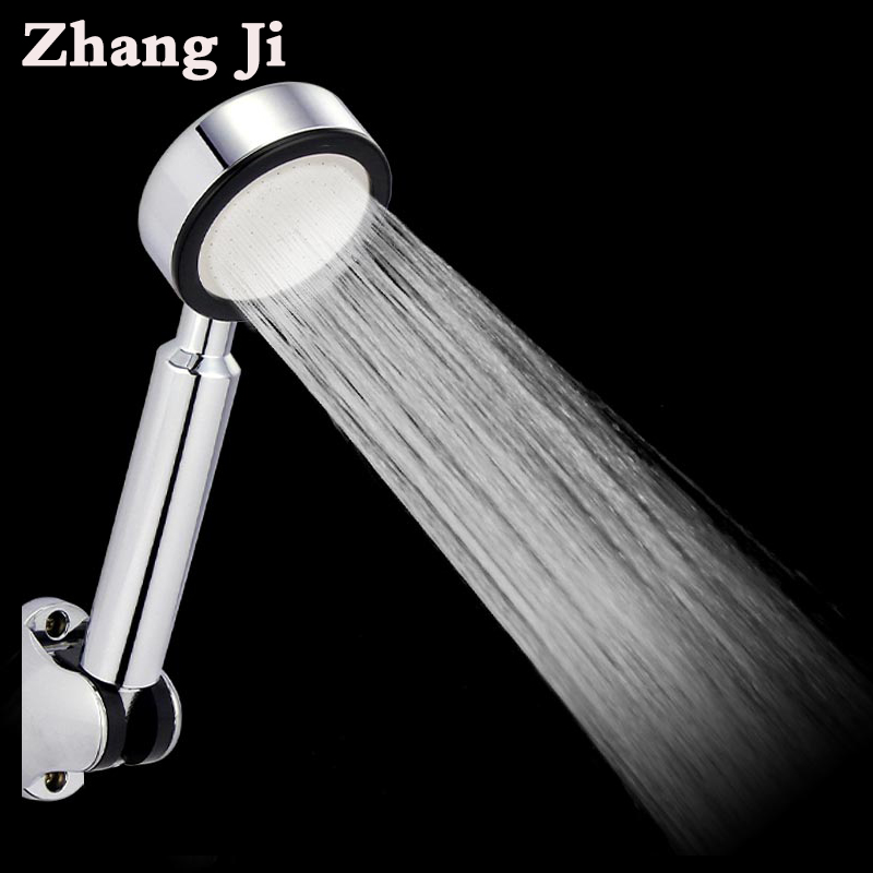 ZhangJi Bathroom ABS 68 Hole Shower Head High Pressure With Chrome Water Saving Handheld Shower Head Rain Hand Spray Nozzle Head