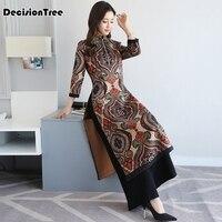 2019 new short aodai vietnam dress for women traditional clothing ao dai dress oriental dress chinese cheongsam