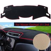 For Nissan Qashqai J11 2nd 2014 2015 2016 2017 LHD Car Dashboard Carpet Protective Pad Interior