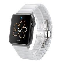 Pulseira de cerâmica para Relógio Maçã 38mm 42mm Ligação Faixa de Relógio Inteligente Links Pulseira para Apple Série relógio de pulseira de Cerâmica 3 2 1