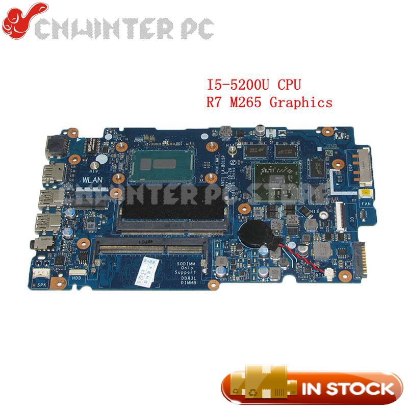 NOKOTION ZAVC1 LA-B015P For Dell 14-5448 5448-14MR Laptop Motherboard 14 inch SR23Y I5-5200U CPU Radeon R7 M265 Video card