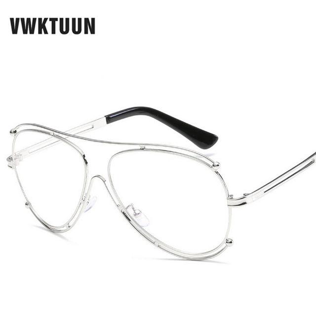 Online Shop VWKTUUN Oversized Glasses Frame Women Men Eyeglasses ...
