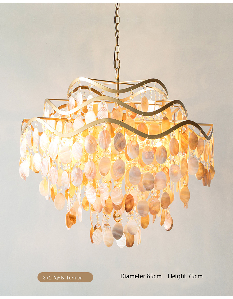 Capiz Seas Pendant Lamp Light