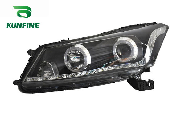 Pair of Car Headlight Assembly For HONDA ACCORD 08-12 Turning Headlight Lamp Parts Angel eyes Project Lens Daytime Running light right combination headlight assembly for lifan s4121200