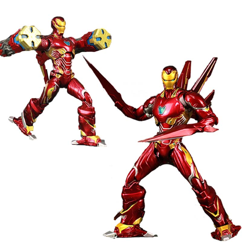 NEW Avengers 4 Endgame Iron Man MK85 6 Repainted Custom Action Figure Ironman Mark 85 KOs SHF Nano Armor kid toyNEW Avengers 4 Endgame Iron Man MK85 6 Repainted Custom Action Figure Ironman Mark 85 KOs SHF Nano Armor kid toy