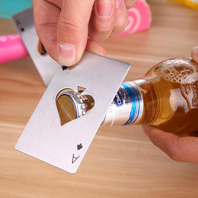 Poker Card Shape Bottle Opener