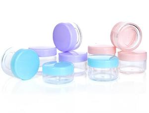 Image 3 - 10pcs/lot 10g/15g/20g Empty Plastic Makeup Nail Art Bead Storage Container Portable Cosmetic Cream Jar Pot Box Round Bottle