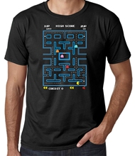 Mens Pacman T Shirt Retro 70s 80s Arcade Pc Video Games Space Invaders
