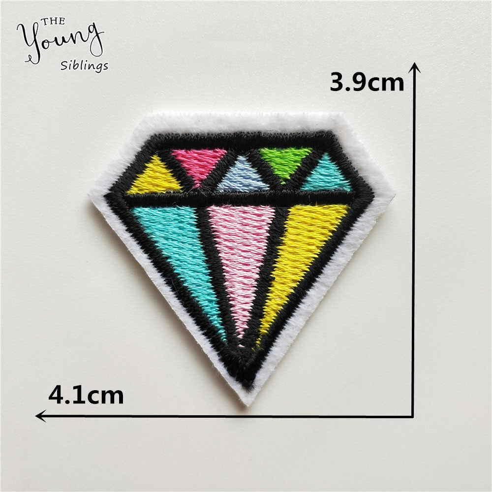 New arrive Diamond iron on Applique embroidery patches Cheap Sequins stripes Stickers DIY Hat bag phone Decorate accessories
