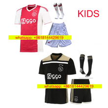 13d1bc62e41 HOT Thai quality 2018 2019 Ajax kids FC soccer jersey 18 -19 KLAASSEN  FISCHEA BAZOER MILIK home away football uniforms shirt