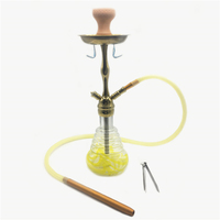18.5'' inch New Creative Golden Borosilicate Glass Smoking Hookah Shisha with a Set of Hookah Chisha Accessories (ES HS 008)