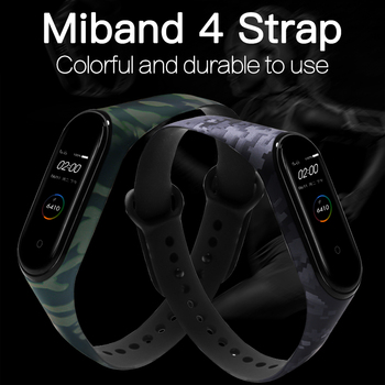 BOORUI for Xiaomi Mi Band 4 Strap Silicone printing flowers miband NFC 4 strap miband 4 accessories for xiaomi mi band 4 band 1